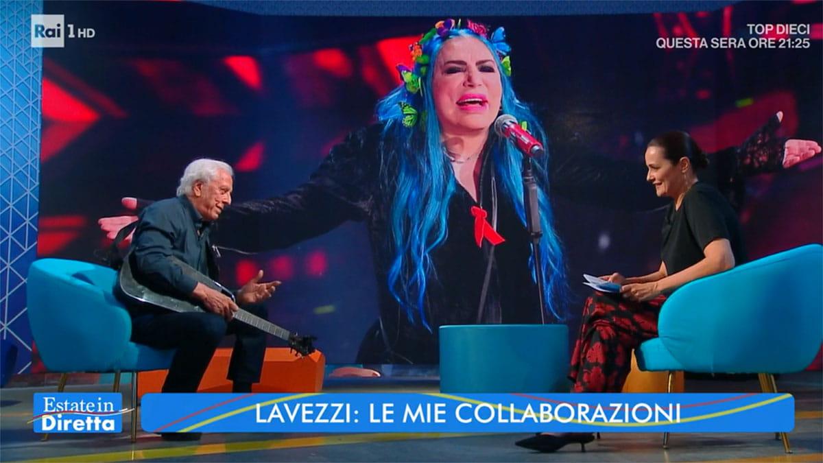 foto Mario Lavezzi e Loredana Bertè e Roberta Capua a Estate in diretta