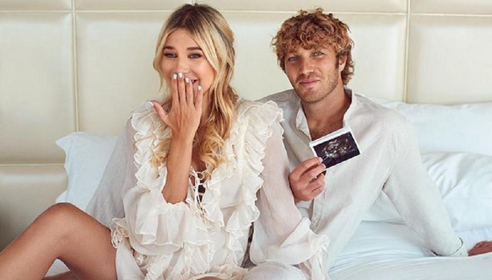 foto Clizia Incorvaia incinta