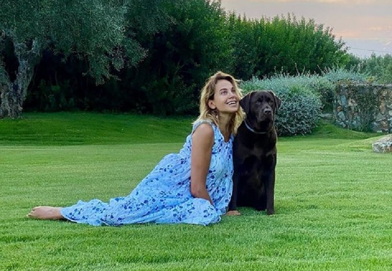 foto Barbara d'Urso cane
