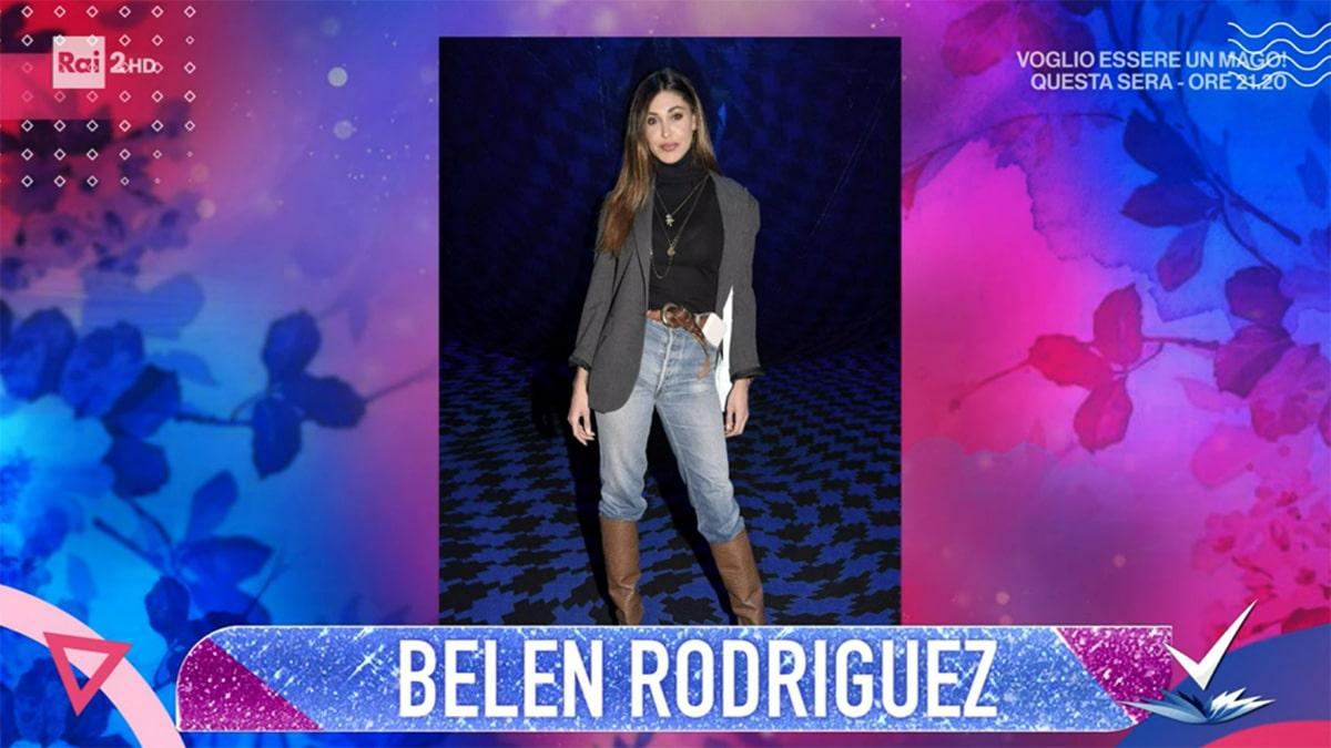 foto Belen Rodriguez a Detto Fatto