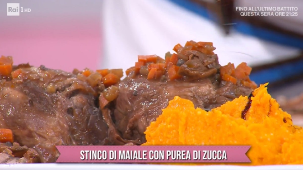 Foto Stinco Di Maiale Con Purea Di Zucca Daniele Persegani E Sempre Mezzogiorno