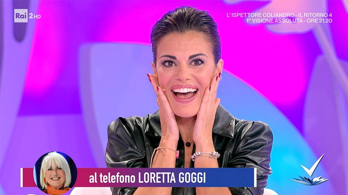 foto Bianca Guaccero sorpresa a Detto Fatto