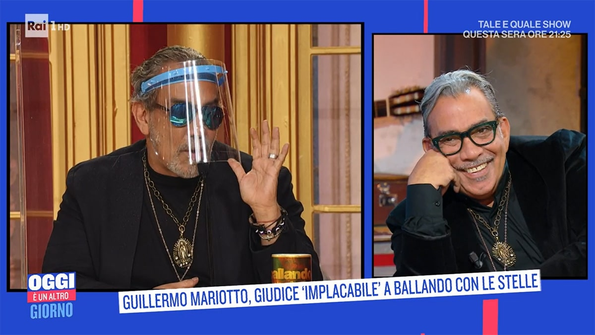 foto Guillermo Mariotto a Oggi un altro giorno