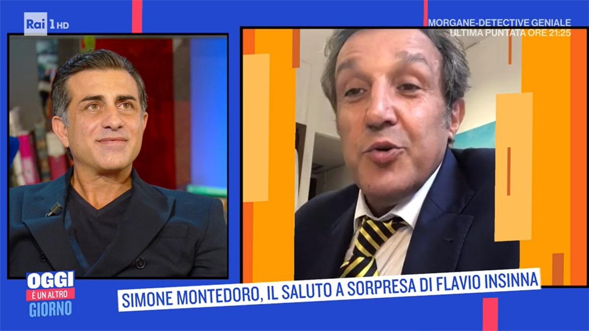 foto Simone Montedoro e Flavio Insinna